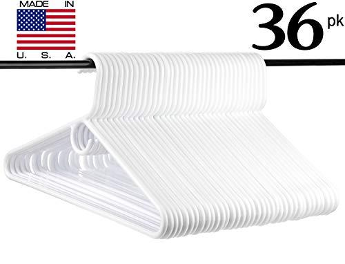Neaties USA Made Heavy Duty White Plastic Hangers, 36pk by Neaties