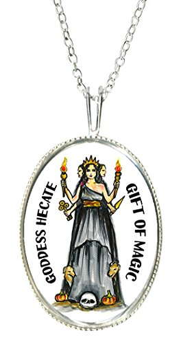 Goddess Lady Cameo - Goddess Hecate of Magic 925 Sterling Silver 1