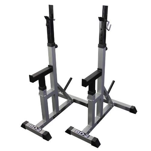 Powder Measure Bench Rest - Valor Fitness BD-2 Independent Bench Press Stands with Adjustable Uprights and Safety Catches