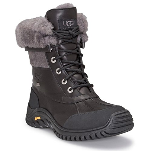 UGG Women's Adirondack II Winter Boot, Black/Grey, 6 B US by UGG (Image #1)