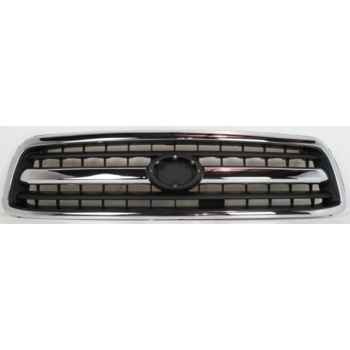 Price comparison product image Evan-Fischer EVA17772052323 Grille Chrome With Black Insert Plastic For 2000-2002 Toyota Tundra