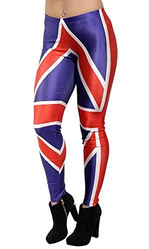BadAssLeggings Women's British Flag Leggings Medium - Uk Tracking Usps