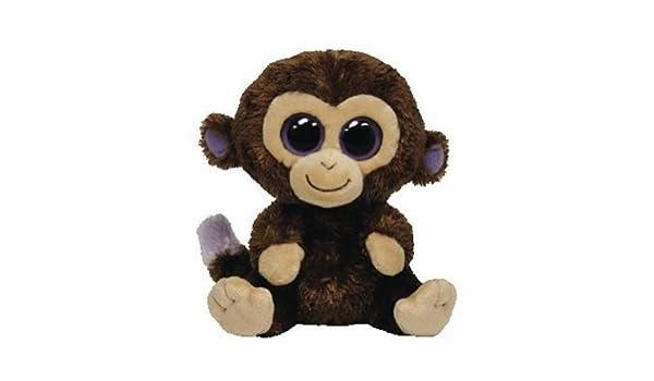 de9b6c87b88 Amazon.com  Ty Beanie Boo Plush Stuffed Animal Coconut Brown Monkey  Toys    Games