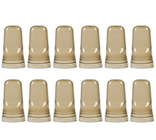 ((Pack of 12) Liquor Pourer Covers, Liquor Bottle Pour Dispenser Spout Dust Covers, Universal Liquor Bottle Cover Caps by Tezzorio)
