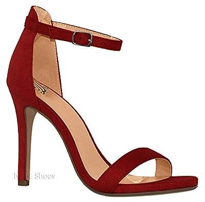 MVE Shoes Women's Peep Toe Mid Heel Sandal - Arch Support Comfort Shoes