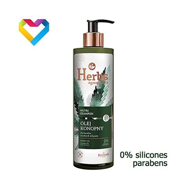 Farmona HERBS Nutri Shampoo Hemp Oil For Very Dry Hair 400ml
