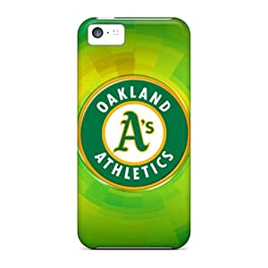 Michlles Scratch-free Phone Case For Iphone 5c- Retail Packaging - Oakland Athletics