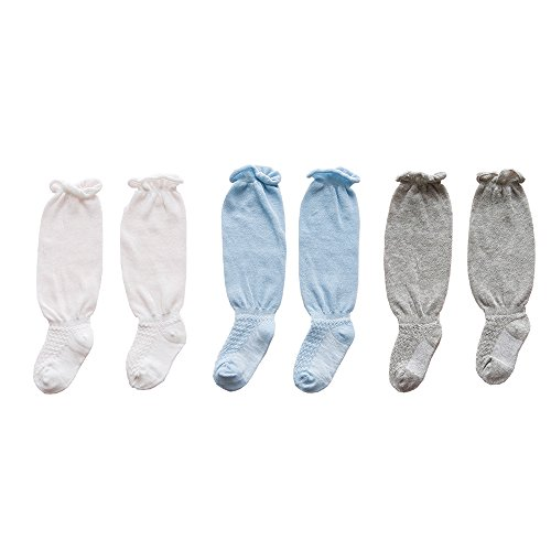 Fairy Baby Toddler Baby 3 Packs Over Knee High Socks Summer Anti-Mosquito Stocking Breathable Size 0-1 Years (Boy - Ruffle Fairy 2 Piece