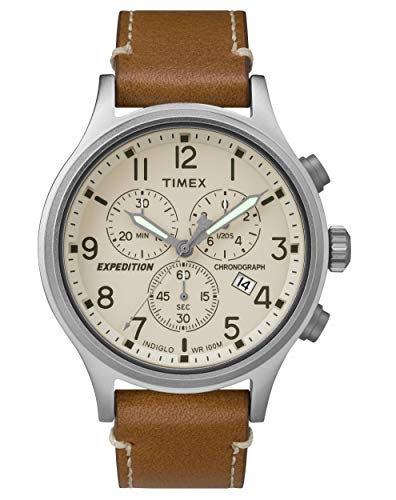 Timex Expedition Scout Cream Dial Leather Strap Men's Watch TW4B09200