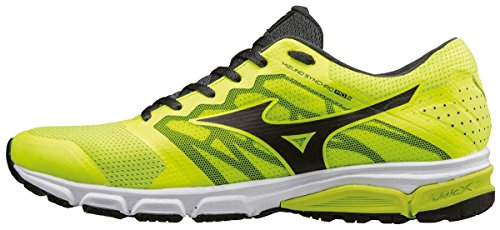 Mizuno Synchro MD 2, Scarpe da Corsa Uomo Giallo (Safety Yellow/Black/Dark Shadow)