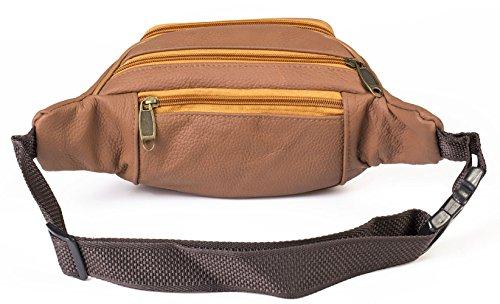 Bauchtasche Gürteltasche Echtleder, Hüfttasche Waist Bag Echt Leder NEU
