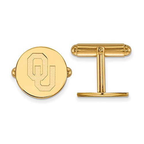 Oklahoma Cuff Links (14k Yellow Gold) by LogoArt