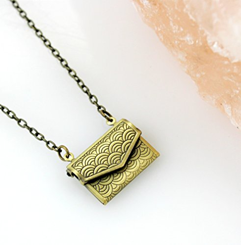 Envelope Locket Necklace -