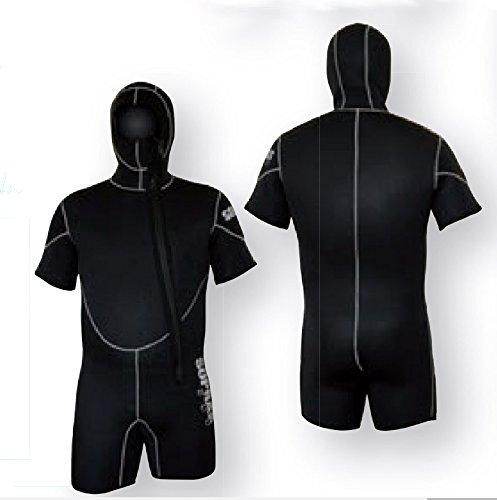 Semi Dry Mens Jumpsuit - SOPRAS SUB Freddo SIZE 6-L Men's 5mm Hooded Wetsuit Shorty Scuba Diving Wet Suit, JumpSuit