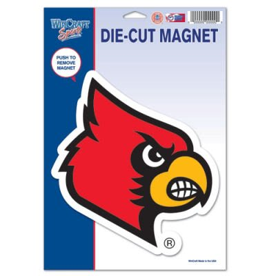 sity Louisville 43160012 Die Cut Logo Magnet, Small, Black ()