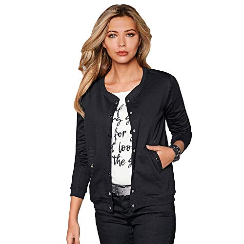 Plush Jacket Closed by Automatic Long Sleeve Black
