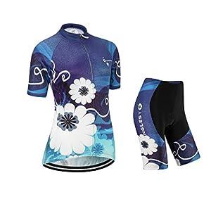 41iD7qTv3mL. SS300 junglest Maglia Ciclismo Donna Manica Corta Jersey(S~5XL,Opzione:Bretella,3D Cuscino) N252