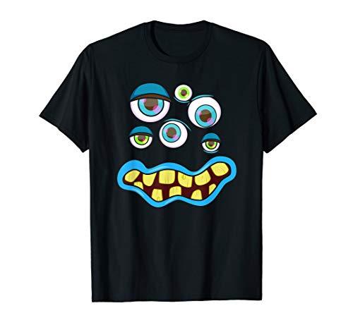 Cute Halloween Eyeballs Design Monster Face Eyes T-Shirt -