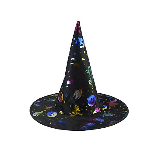 Willsa 1Pc Adult Womens Pumpkin Witch Hat for