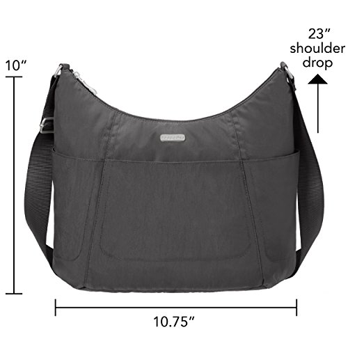 Charcoal Baggallini Hobo resistant Multi Water Tote Wristlet Purse With pocketed Lightweight Travel qgqaB4