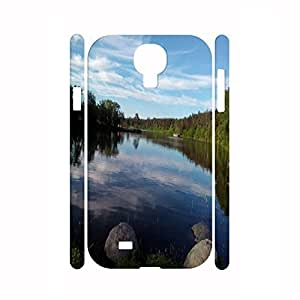 Designed Travel Series River Graphic Vintage Hard Plastic Cell Phone Case For Samsung Galaxy S4 I9500