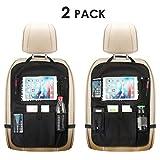 PENGKE Backseat Car Organizer,6 Storage Pockets for Toys Book Bottle Drinks Kids Toddler Road Trip Travel Bag, 2 Pack