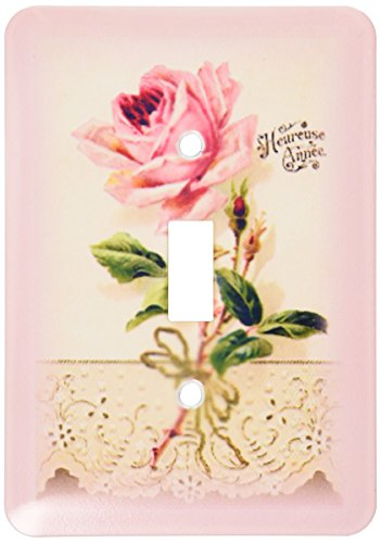 3dRose lsp_60637_1 French Vintage Rose N Lace Single Toggle Switch