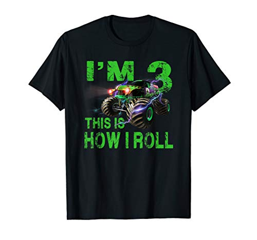 Im 3 This Is How I Roll 3 Years Old 3rd Birthday Shirt ()