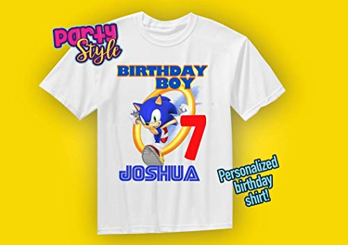 Sonic Birthday Shirt Sonic The Hedgehog Birthday Custom Import It All
