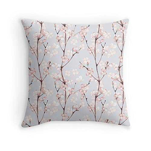 Blossom. Watercolor seamless floral pattern for Sofa Couch Living Room Bed Decorative