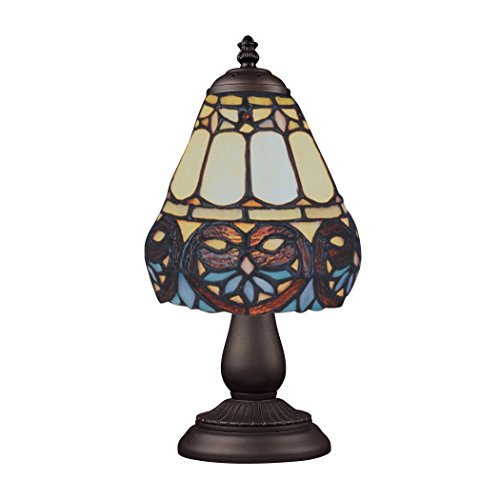 (Elk 080-Tb-21 Mix And Match Floral Heart Tiffany Table Lamp, Bronze)