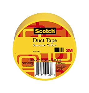 3M Scotch Duct Tape, Sunshine Yellow, 1.88-Inch by 20-Yard - 920-YLW-C by 3M CHIMD