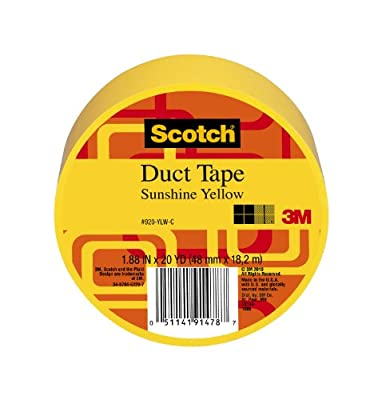 3M Scotch Duct Tape, Sunshine Yellow, 1.88-Inch by 20-Yard - 920-YLW-C from Scotch Brand