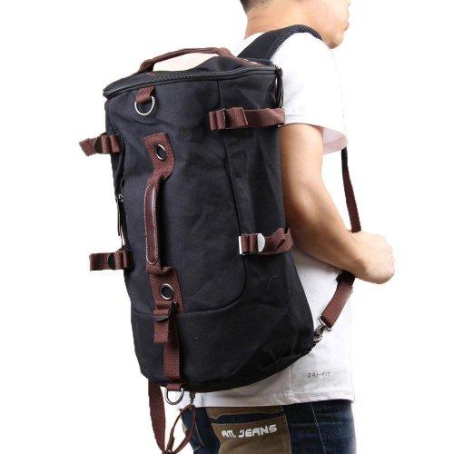 Vktech Portable Canvas Man Boy Backpack Rucksack Travel Outd