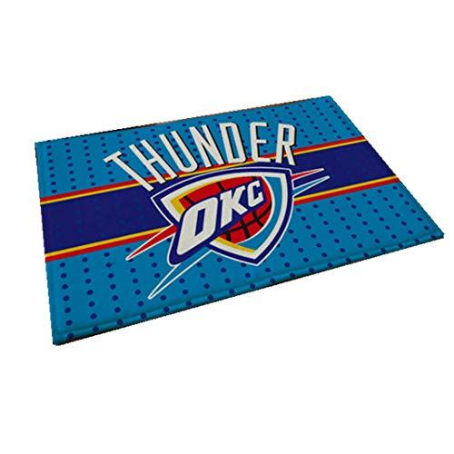 Smile Rugs NBA Basketball Star Team Door Mat, Non-Slip Absorbent Bathroom Living Room Living Bedroom Rugs,OKC,23.735.4in (Rugs Area Okc)