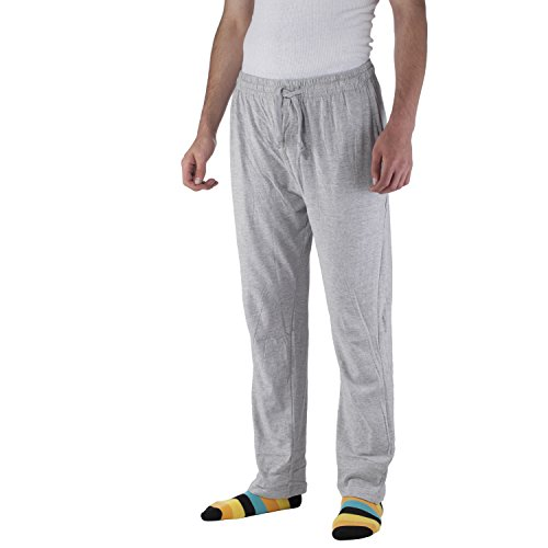 Arctic Pole Men's Jersey Knit Pajama/Lounge Pants - 100% Cotton - Side Pockets - Adjustable Waist with Drawstring - Gray -XX Large