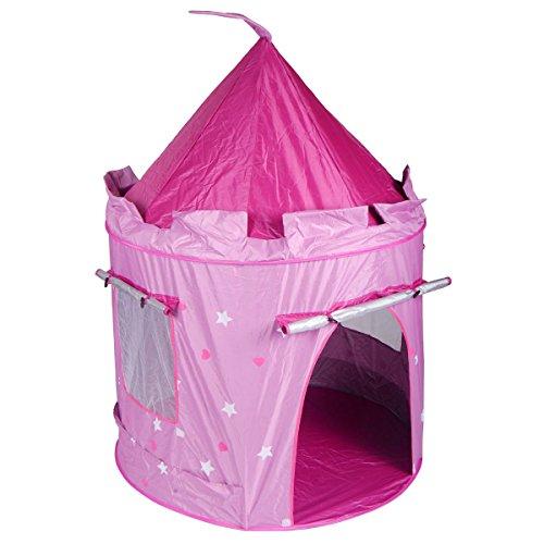 Portable Pink Folding Play Kids Pop Up Tent Girl Princess Castle House