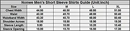 Nonwe Mens Hiking Camping Short Sleeve Shirts Quick Dry Breathable