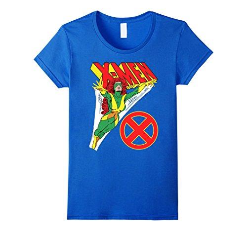 Womens Marvel X-Men Jean Grey Vintage Classic Retro Graphic T-Shirt Medium Royal Blue