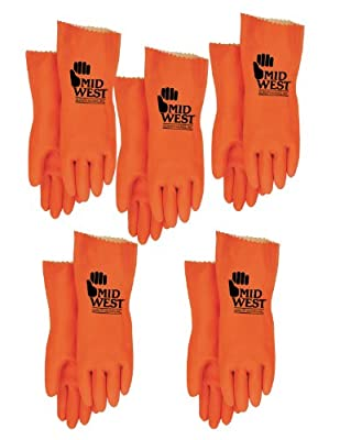 Heavy Duty Unsupported Chemical Resistant Natural Rubber Latex Glove