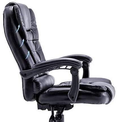 Fåtöljar GSN Gaming PU-läder skrivbordsstol, ergonomisk svängbar verkställande kontorsstol med uppfällbart armstöd vilstol för studierum kontorsstol