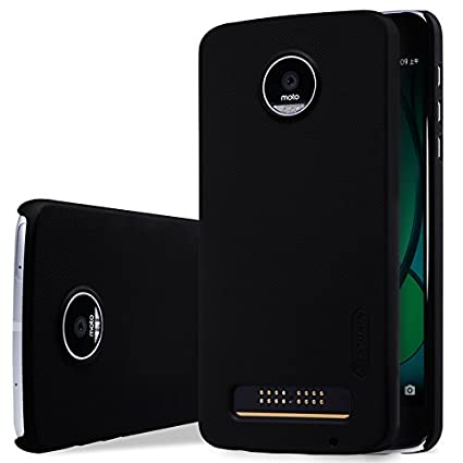 new styles 54a90 040d3 Nillkin Frosted Shield Hard Back Cover Case for Motorola Moto Z Play (5.5  inch)- Black