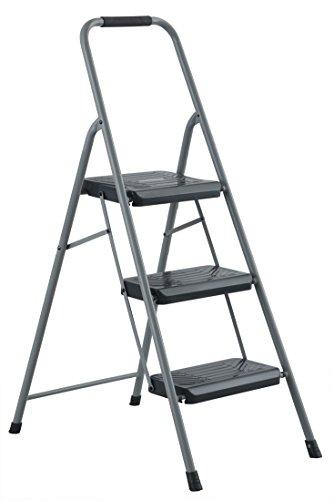 Black & Decker BXL4360-03 Two Step 200 lb Capacity Steel Stool, Gray by BLACK+DECKER