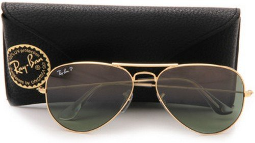 ray ban aviator sunglasses large frame  amazon: ray ban 0rb3025 aviator metal non polarized sunglasses, gold/ grey green, 62mm: ray ban: clothing