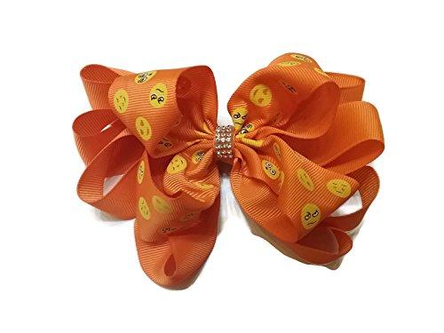 Price comparison product image Bling Bling Emoji Hair Bow - (Orange)