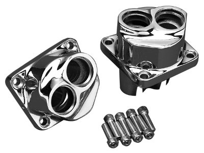 TAPPET BLOCKS CHROME FRONT & REAR SET PARTS FOR HARLEY EVOLUTION