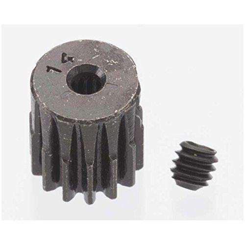 Robinson Racing Products 0.5 Module Hard Blackened Steel Mini Pinion 2mm, 14T, RRP1814 ()