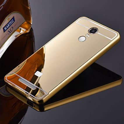 the best attitude b93a5 7f7cf Febelo (TM) Redmi Note 3 Gold Mirror Branded Luxury Metal Bumper Acrylic  Mirror Back Cover Case For Xiaomi Redmi Note 3 - Gold Plated