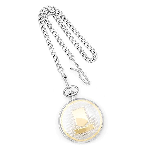 Jewelry Adviser Charles Hubert Watches Charles Hubert Gold Finish Two-tone White Dial Pocket Watch