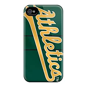 Awesome Nbb1070tShs Moddcasess Defender Tpu Hard Cases Covers For Iphone 4/4s- Oakland Athletics